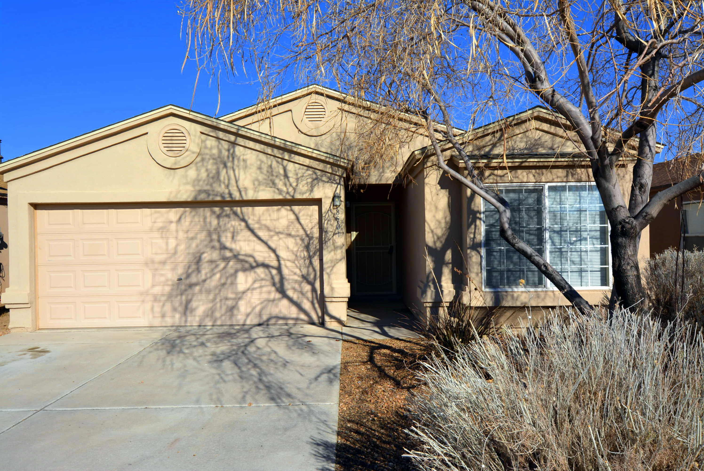 This beautiful 4 bedroom, 2 bath home has a spacious combination dining room and living room with gas fireplace.  The open kitchen has lots of storage, plenty of  counter space and features a lovely breakfast nook.  The master has a nice walk in closet.  All of this and refrigerated air.