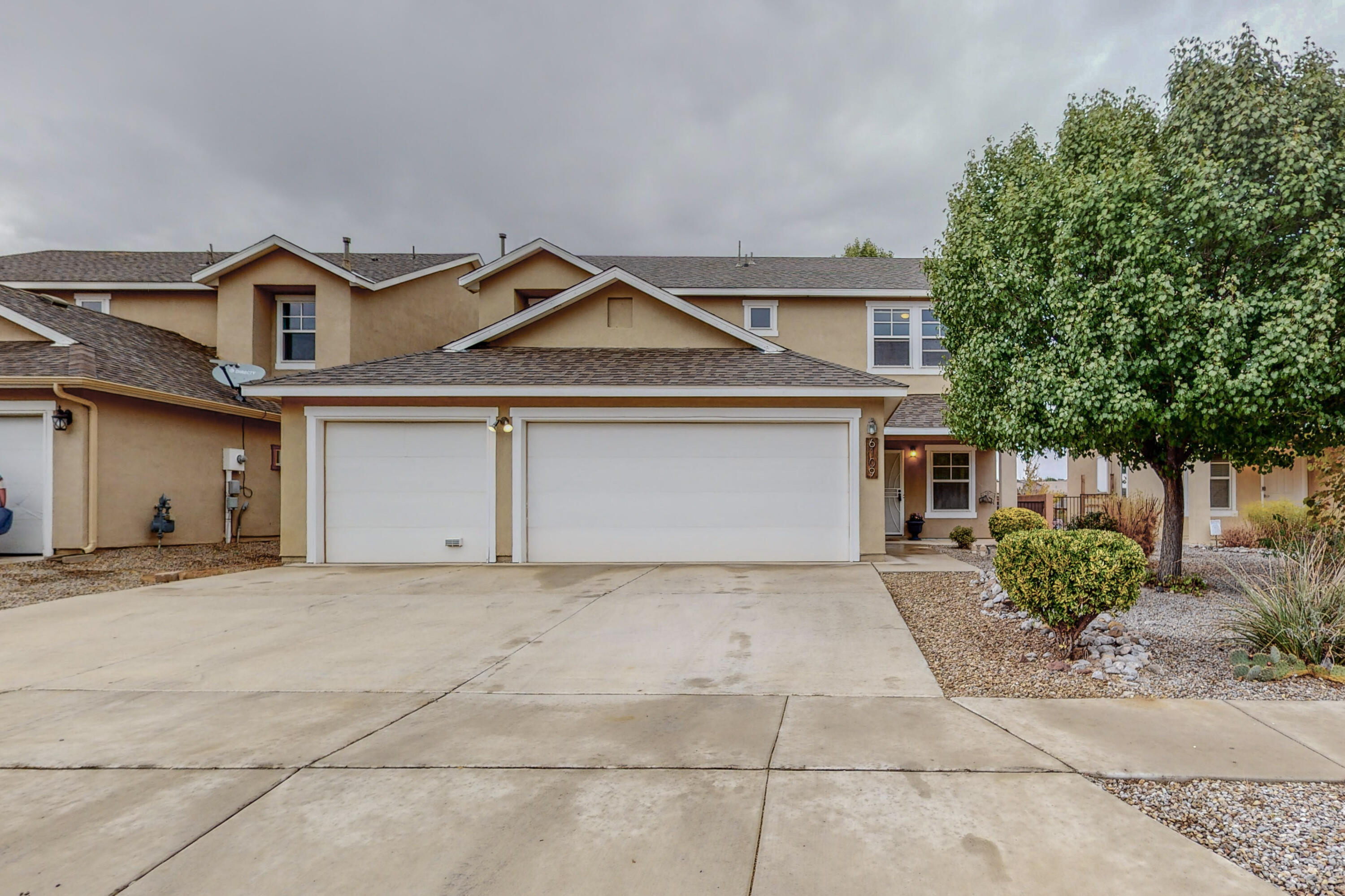 Great new listing in NW Albuquerque.  4 bedrooms, 3 bathrooms.  Downstairs bedroom could work well as an office space.  Main living area with modern built-ins. Large kitchen space perfect for the baker/chef. Stainless steel appliances are included.  The floorplan offers tons of extra living space including large bonus loft upstairs.  3-car garage, single side has been converted into an extra work/hobby space.  It could easily be converted back.  New roof installed in 2019. Refrigerated air.  Backyard has a tiled and covered patio.  There is a garden area with tons of potential backing to open space.