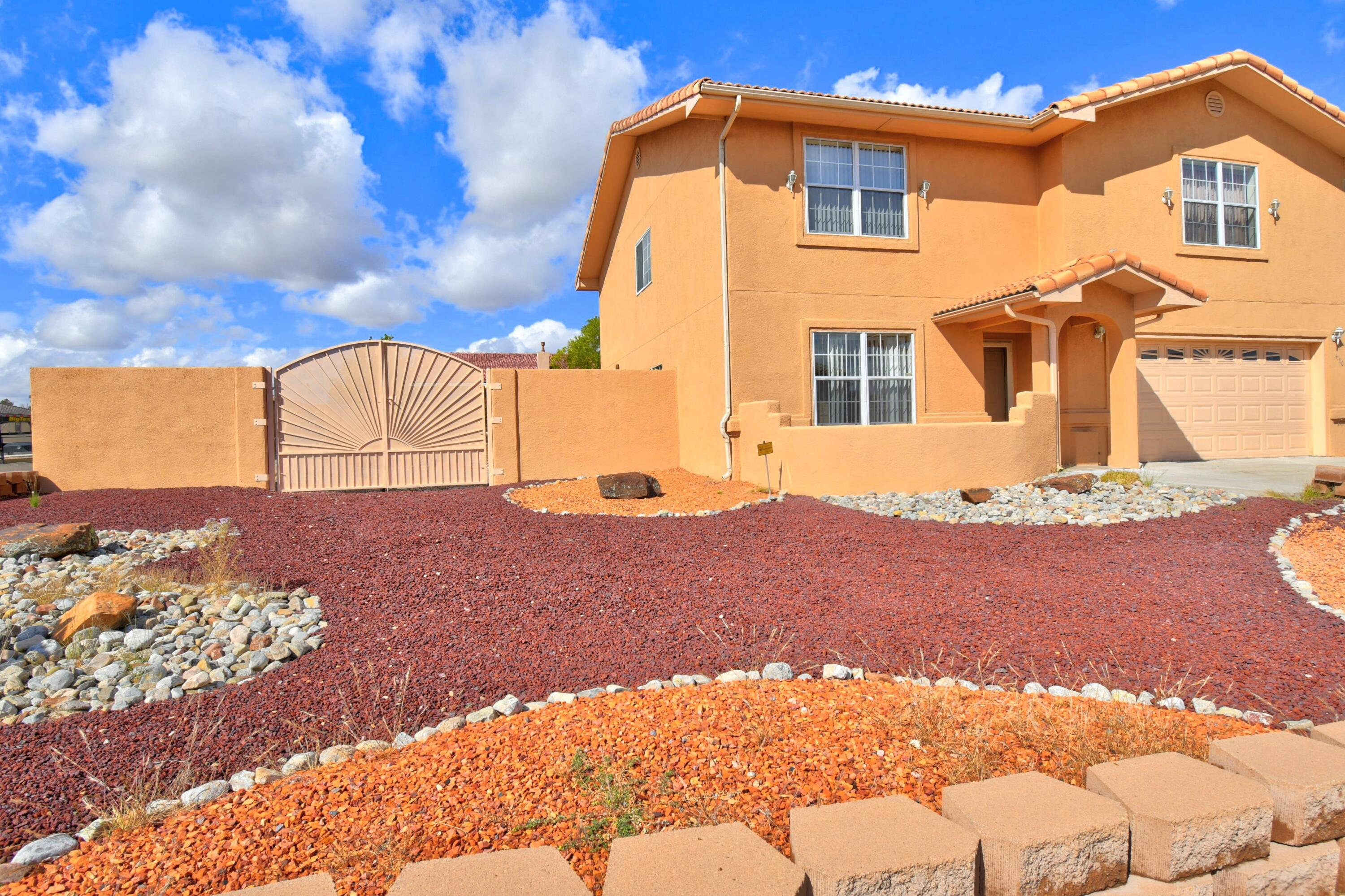 You've got to come take a look at this one owner, immaculately cared for home in one of the most desirable locations on Albuquerque's West Side. Huge Living Room/Dining Room combo greet you as your enter. Just beyond that is the Second living area with built in bookshelves and cozy fireplace. The kitchen offers beautiful granite counter tops, ceramic tile, pantry, kitchen island and plenty of cabinets and counter space. A 3/4 bath, two car garage and wonderful 10 x 22 foot sunroom complete the downstairs portion of this home. Upstairs you are greeted by a loft which could easily double as an office, three additional bedrooms, a full bath and a large Main bedroom that features it's own fireplace and bathroom that has separate shower, garden/jacuzzi tub, double vanity and walk in closet.