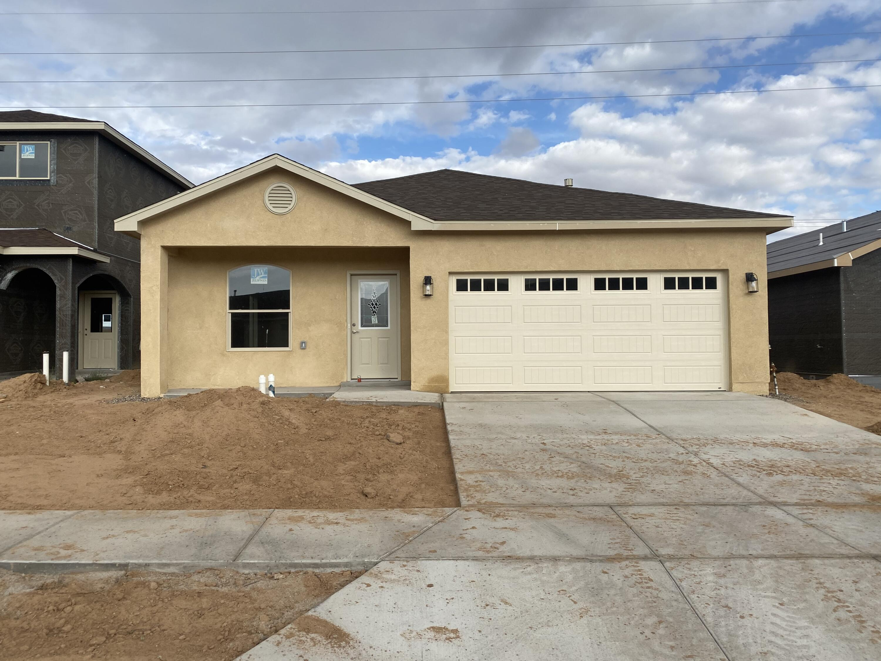 Welcome to this new construction Kalahari floor plan by Mile High Homes. This spacious 3 bedroom, 2 bathroom home is sure to impress. Features include a cozy gas log fireplace,  tile in all areas with the exception of carpet in the bedrooms, granite counter tops, custom cabinetry and a large pantry. Make an appointment to see your future home today!