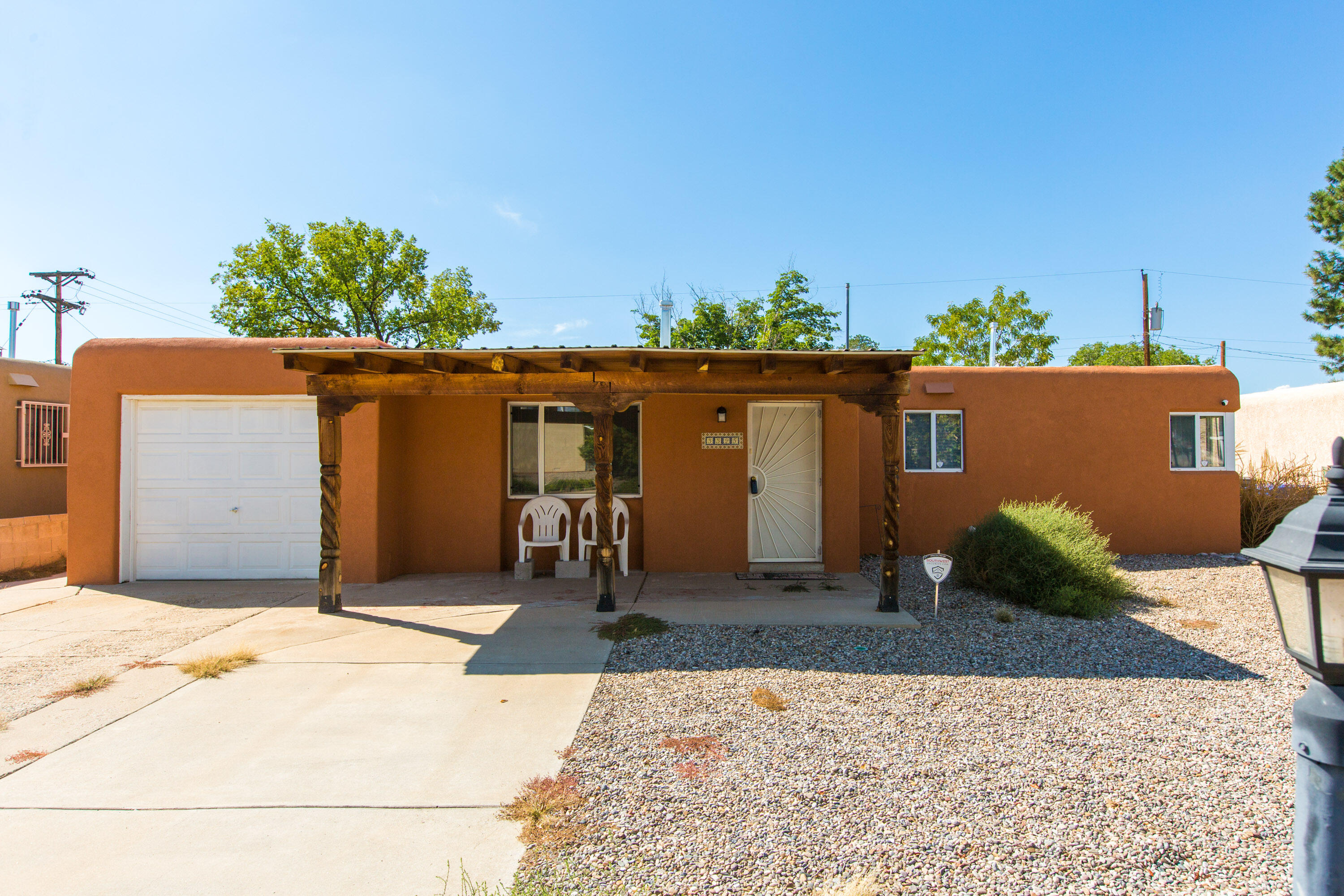 Charming three Bedroom, 1 3/4 Bath. I car garage. Priced to sell! with newer Roof, cooler, heaters, stucco, water heater . just to name a few. A great place to call Home! Take A Look!