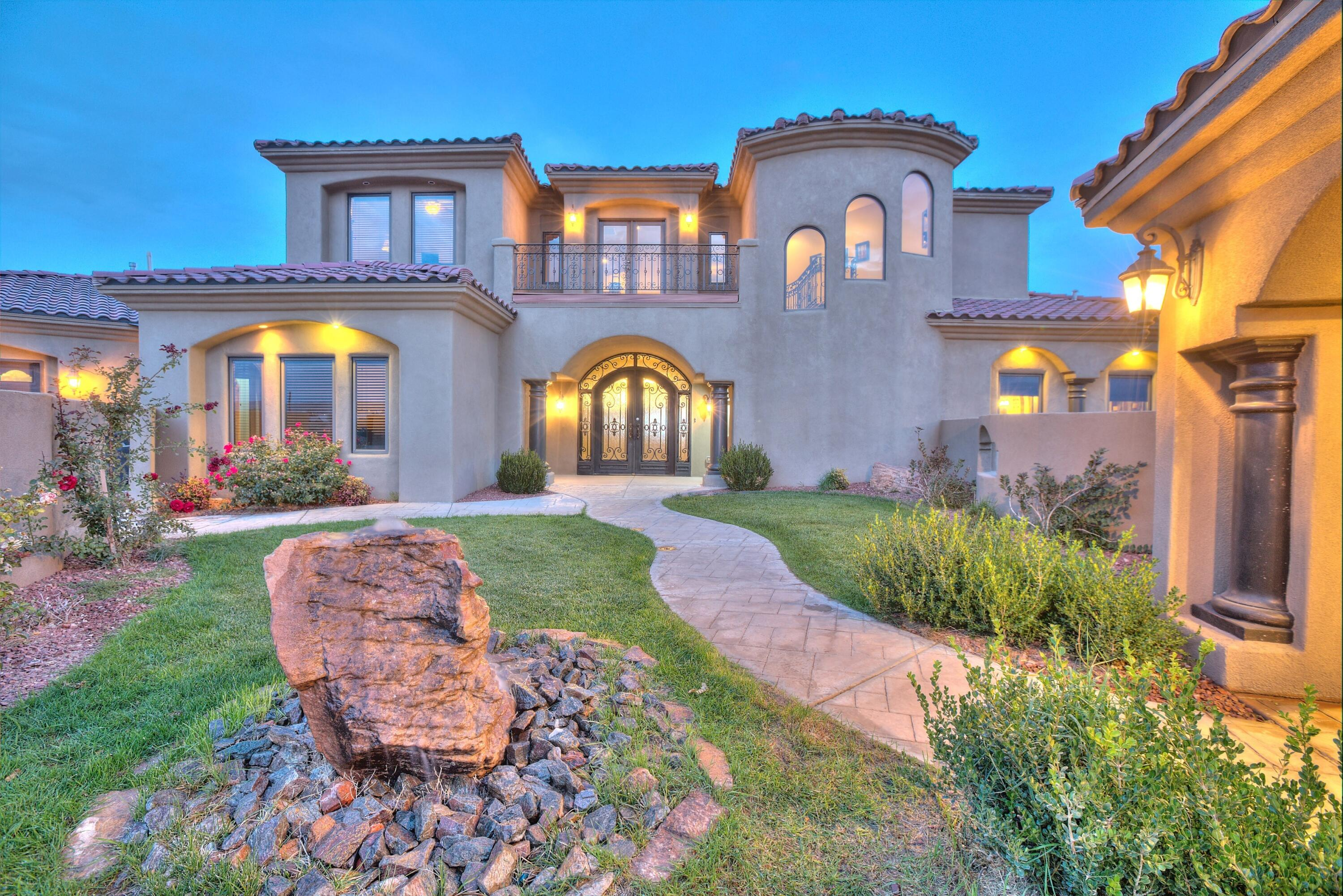 Luxurious 5000+sq.ft. custom home in the heart of the southwest with breathtaking unobstructed views of the city and mountains.  This gem is located on an impeccably manicured 1 acre lot.  Free-flowing indoor/outdoor living spaces provide attention to detail, harmonious with the surroundings.  Expansive rooms, arched ceiling and exquisite architectural appointments are perfectly designed & beautifully executed providing a sense of warmth & relaxed refinement.  This is a must see!  1200+sg.ft. garage.