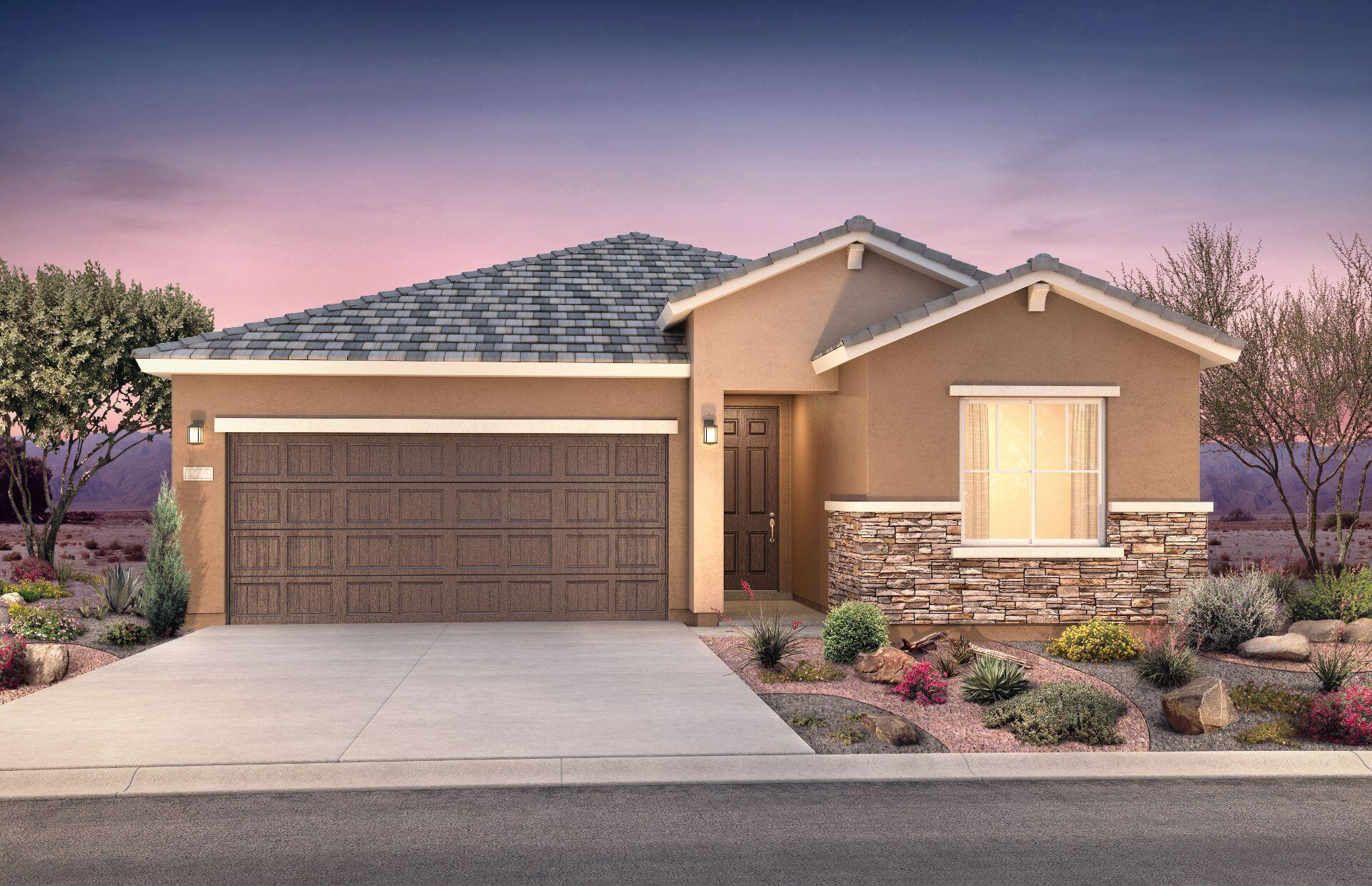 The Verbena floorplan here at Vallecito at Fiesta boasts ample features throughout and has multiple upgrade options for you to build the home of your dreams. Building a home with Pulte guarantees you a brand new, never lived-in home with features like brand new appliances, new carpet, new A/C, new tankless hot water heater, and so much more! Come see this proposed construction home being built in the Fiesta masterplan community in Los Lunas!