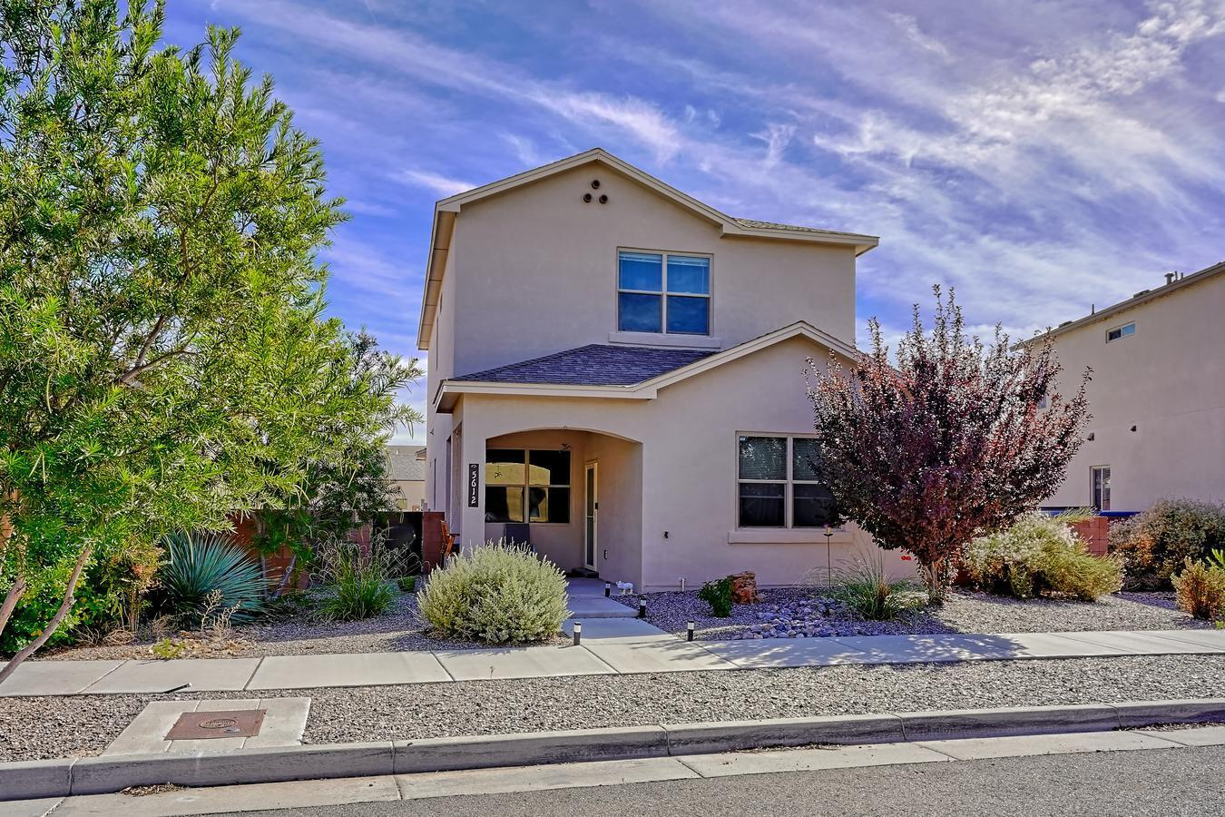 Welcome to the Netflix neighborhood of Mesa Del Sol. Come see this lovely home that allows you to be in a community built for connection. This growing walkable area is going to be a hot spot for a long time to come. You'r in luck because this home is available and ready for your loved ones to enjoy. The upgraded features of this home include the landscaped yard with dining space, smart features for lights, fans, locks and so much more. A fantastic kitchen near the laundry, living and garage. Upgraded cabinets in the 1/2 bath and laundry. Water softener, reverse osmosis system and increased garage storage. This home has it all don't miss this one.