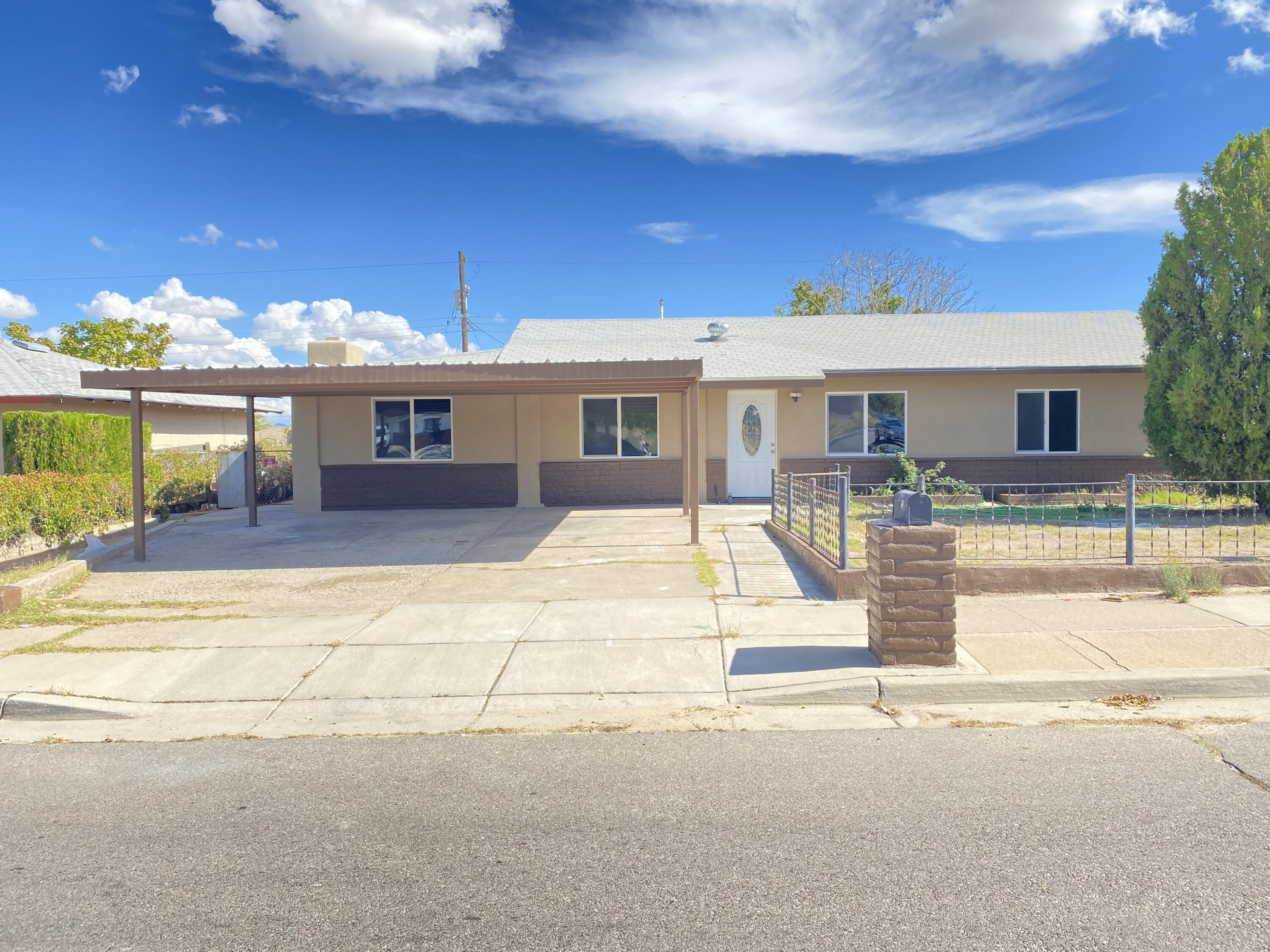 Beautiful 3 bdrm with many upgrades that will surely delight your pickiest buyers.  This home boasts New tile, windows, carpet, cabinets, light fixtures, synthetic stucco, paint, refrigerated air, etc.  Property has spacious yard with backyard access from alley.  Bring your clients and lets get this one SOLD!