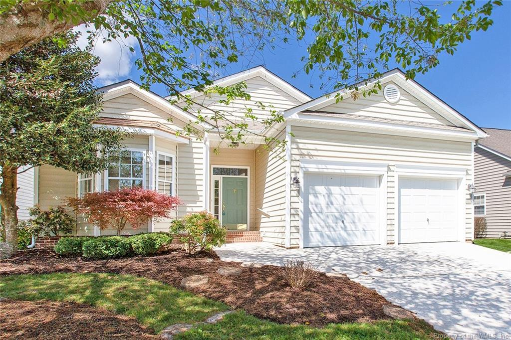 Move-in ready with fresh paint and new flooring! Spacious floor plan with formal living room and dining room that's great for entertaining. The kitchen overlooks the family room with a gas fireplace and views of the backyard. You will enjoy cooking in this kitchen with solid surface countertops, loads of cabinets, a pantry plus all appliances convey! The cozy family room  opens to the private fenced backyard. This will easily become your expanded living space as you enjoy the beautiful landscape. The neighborhood offers a pool, sidewalks and RV/boat storage. Easy commute to Rt 199 ad I-64.