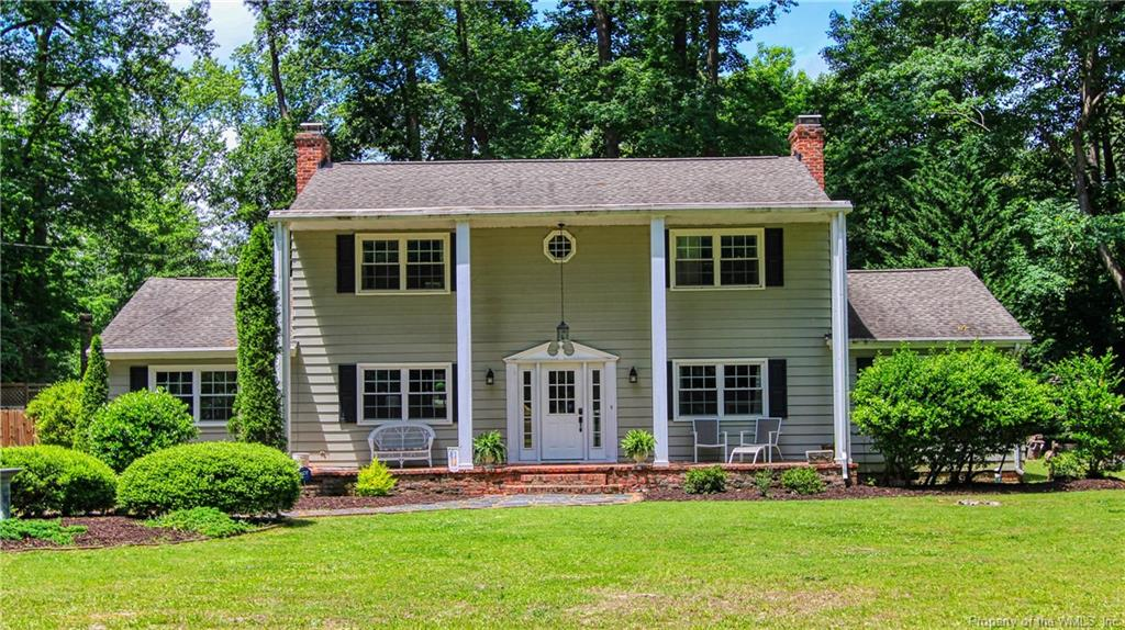 Beautiful 4 Bedroom Colonial home on .68 acres, 4 Bedrooms with 2 Master Bedrooms 1 up 1 down, 3.5 Bathrooms, Stately Entryway, Updated Eat-in Kitchen, Cosy Family Room w/Fireplace, Formal Living Room w/Fireplace, Formal Dining Room, Sun Room, Updated Bathrooms, Master Bedroom has 2 Walk-in Cosets, Large Fenced Backyard with Patio, Play set, Fire pit Area, Shed and More