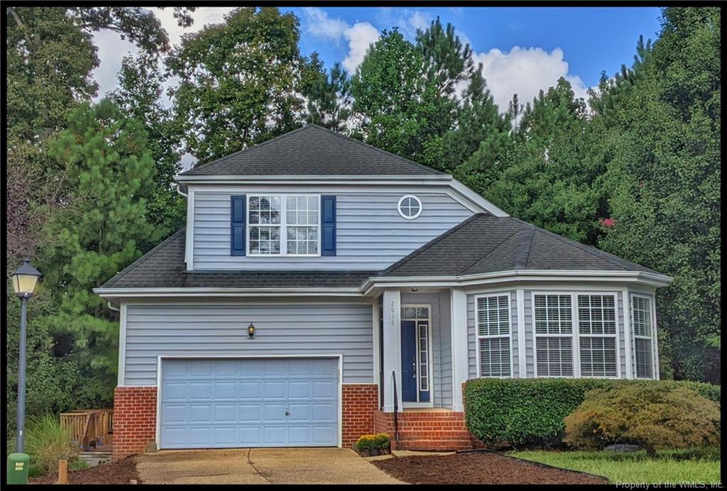 """The Berkeley Model....1st floor primary bedroom, Tray Ceiling, large walk in closet, en-suite bath with glassed in shower and a jetted tub.  It's an open floor plan, you can see from the front door to the back!  20' ceilings.  So much volume!!!  There is an open loft upstairs along with 2 large bedrooms. A Huge deck was added onto the side of house (Permits pulled) along with a separate deck on back of house. Enjoy the lot on the cul de sac. Backing to the walking trail with a fenced back yard.  Lake Powell Forest is very conveniently located off of Jamestown Rd.  Just 1 mile to Route 199 and 2 miles to the ferry.  Priced to sell  """"as is"""".  Home inspection will  be for informational purposes only. Home Warranty provided. * Photos are not current *"""